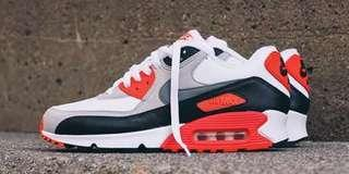 200$$ OFF air max 90 Infrared OG (authentic)