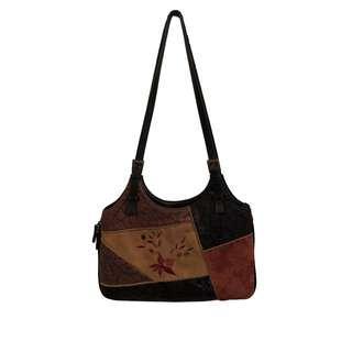 Genuine Leather Brown Extendable Handbag