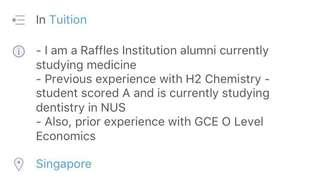GCE A Level Chem Tuition