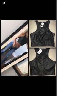 Mendocino leather top BNWT ❤️