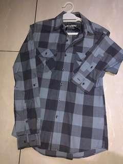 TOPMAN Blue Flannel Shirt