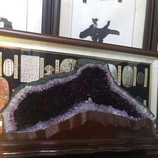 🚚 天然巴西水晶洞鯊魚嘴