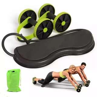 Abs Wheeler Roller Abdominal Wheel Trainer Equipment Strecth Elastic Abdominal Pull Resistance Rope Abs Muscle