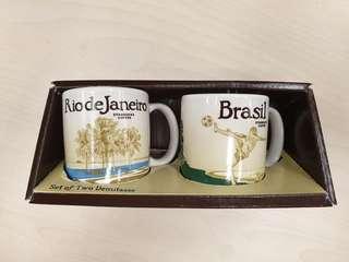Starbucks demitasse set 3oz - Brazil and Rio de Janeiro
