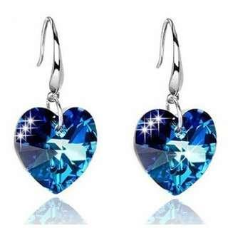Sapphire Heart Earrings