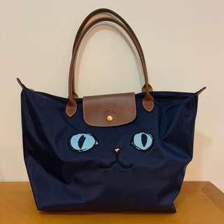 Longchamp 手挽袋 貓貓款 Large Size