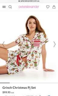 PETER ALEXANDER grinch Christmas pyjamas set XS