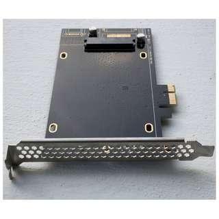 DEBROGLIE SATA III to PCIe SSD Adapter