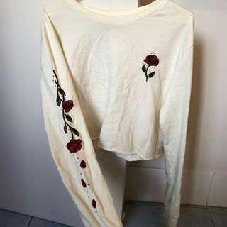 Cotton on white flower embroidery jumper