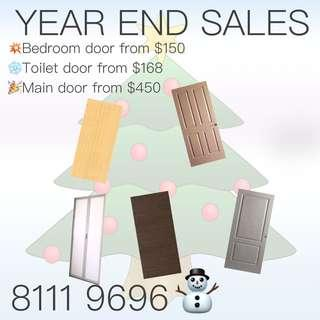 Year End Sales for all doors