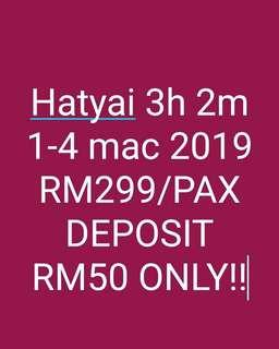 Trip to hatyai 3h 2m from kl sentral