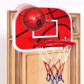 🚚 Indoor Adjustable Hanging Basketball Netball Hoop Basketball Box Mini Basketball Board For Game Children Kids Game