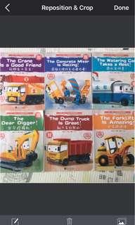 Bilingual story books, Chinese & English learning book,Hot Wheels