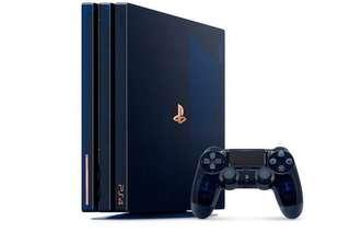 Wanted to Buy PS4 Pro 500 Million Limited Edition Console.