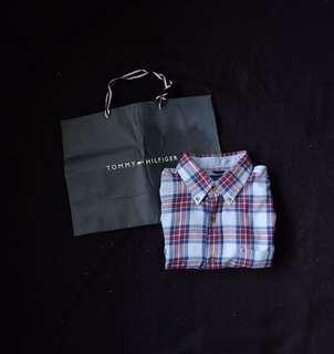 Authentic Tommy Hilfiger Checkered Short Sleeve Shirt