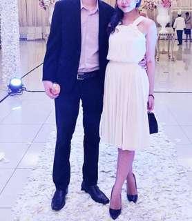 Zara party white dress