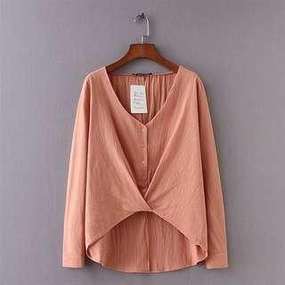 Pink Buttoned Blouse