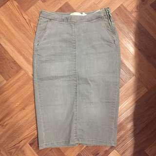 Zara Grey Denim skirt