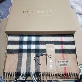 Burberry scarf camel 經典款