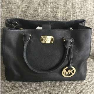 Michael Kors Leather Satchel Black Bag with Strap #XMAS25