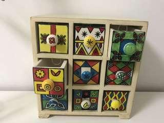 Fab India Decorative Storage Cabinet