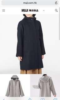Muji French Mix Wool Coat BNWT