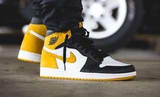 Nike air jordan 1 yellow ochre high OG Yeezy FOG Supreme Adidas OW presto