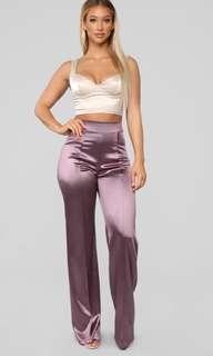Fashion Nova Silk Flared Pants