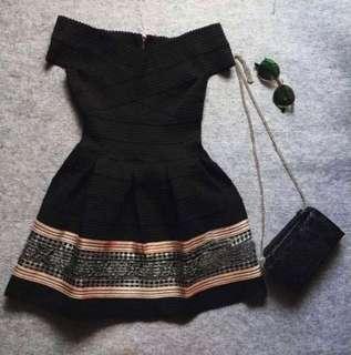🚚 露肩性感繃帶洋裝