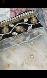 Heavy embroidered net dupatta