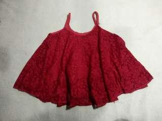 (Preloved) Red Hanging Blouse