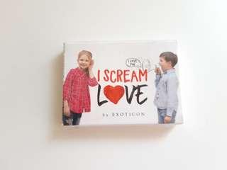 I scream love by exoticon contact lens (normal) plano/00