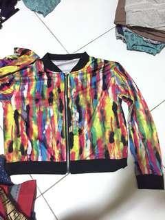 Jaket perempuan/jaketwanita/croptop/jaketlucu