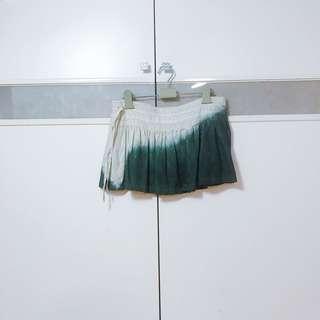 🚚 二手暈染麻質短裙M號