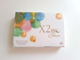 X2 bio glaze nu azul contact lens normal (plano/00)