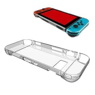 🚚 Crystal Clear Hard Plastic Nintendo Switch Case Cover Protector