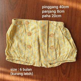 PRELOVED celana pendek bayi gingersnaps