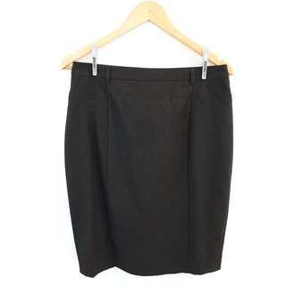Portmans Pencil Skirt, Dark Grey, Size 12