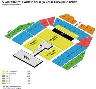 [wtt] blackpink 2019 singapore concert ticket - standing pen c