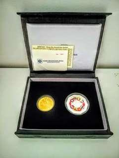 Set of 2 Commemorative proof coin
