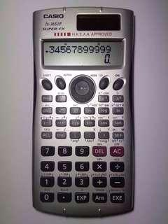 Casio 計算機 ELECTRONIC CALCULATOR FX-3650P HKEAA APPROVE SUPER FX TWO POWER
