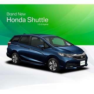 Brand New Honda Shuttle Hybrid 1.5 G