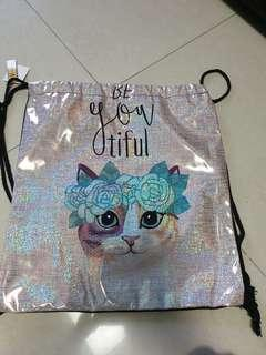 Drawstring Bag cat design