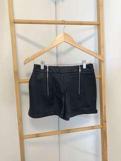 Zara leather shorts