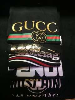Gucci, Balenciaga, Burberry, Fendi, Moschino