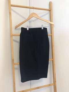 Forever21 black midi skirt