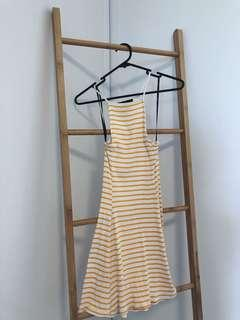 Forever21 yellow striped dress