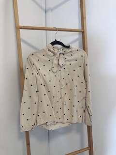 Polka dotted shirt / top