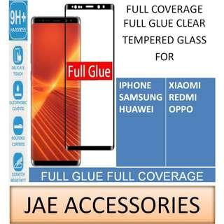 NEW Full Glue Tempered Glass for Samsung A9 2018 Oppo AX7
