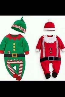 IN STOCK Baby Christmas romper Santa Claus romper costume green elf romper elf costume grinch romper costume Christmas party costume